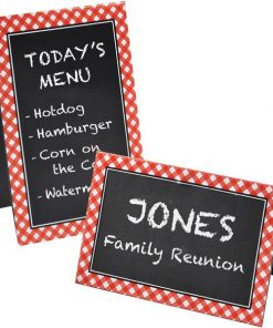 Picnic Party Chalkboard Place Cards