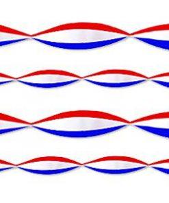 Red, White & Blue Crepe Streamer
