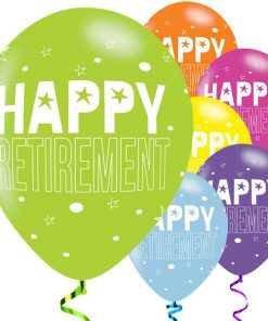 Retirement Officially Retired Party Printed Latex Balloons