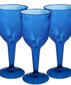Royal Blue Plastic Wine Glasses