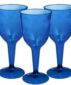 Royal Blue Plastic Wine Glasses