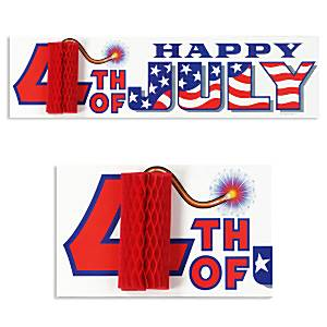 Happy 4th July American Sign Decoration