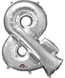 Silver Letter & Foil Balloon
