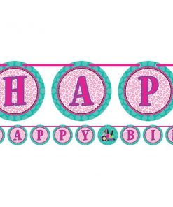 Sparkle Spa Party Letter Banner With Stickers