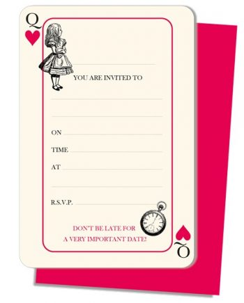 Truly Alice Party Invitation Cards