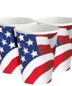 USA American Flag Paper Party Cups