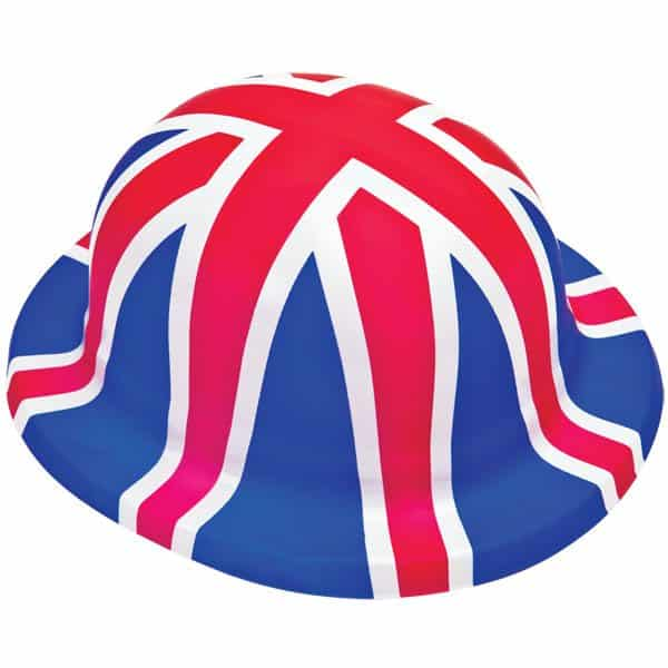 Union Jack Plastic Bowler Hat (each)