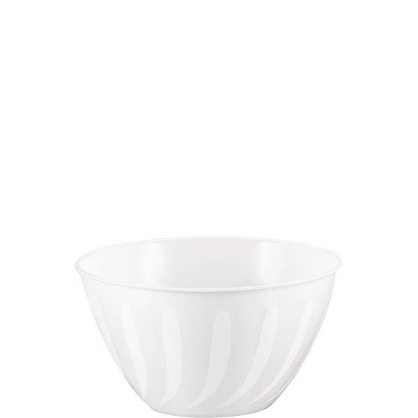 White Swirl Plastic Serving Bowl - 0.7L