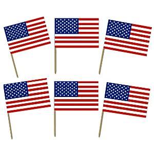 USA American Flag Food Picks