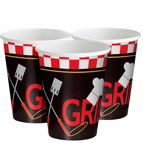 Backyard BBQ Party Paper Cups