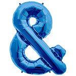 Blue Letter & Foil Balloon