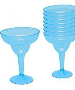 Turquoise Plastic Margarita Glasses