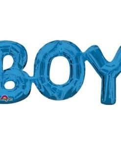 BOY Blue Foil Balloon