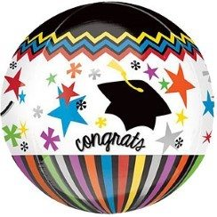Congratulations Graduate Orbz Long Lasting Balloon