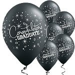 Black Graduation Printed Latex Balloons