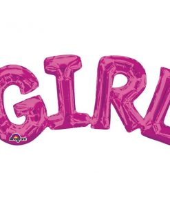 GIRL Pink Foil Balloon