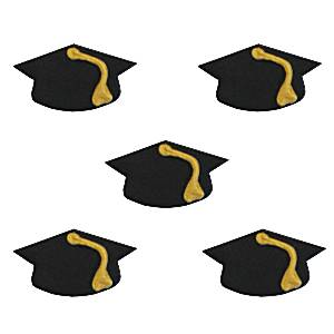 Graduation Party Cake Decorations Mortar Board Sugar Toppers