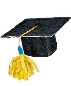 Graduation Mortar Hat Piñata