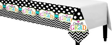 Graduation Party Plastic Tablecover