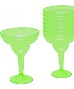 Kiwi Green Plastic Margarita Glasses