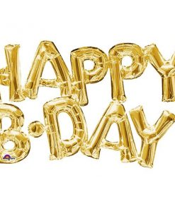 HAPPY B'DAY Gold Foil Balloon