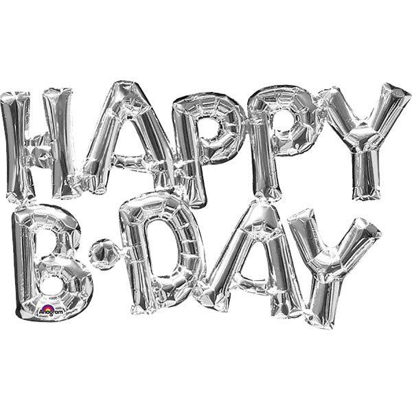 HAPPY BIRTHDAY Silver Foil Balloon