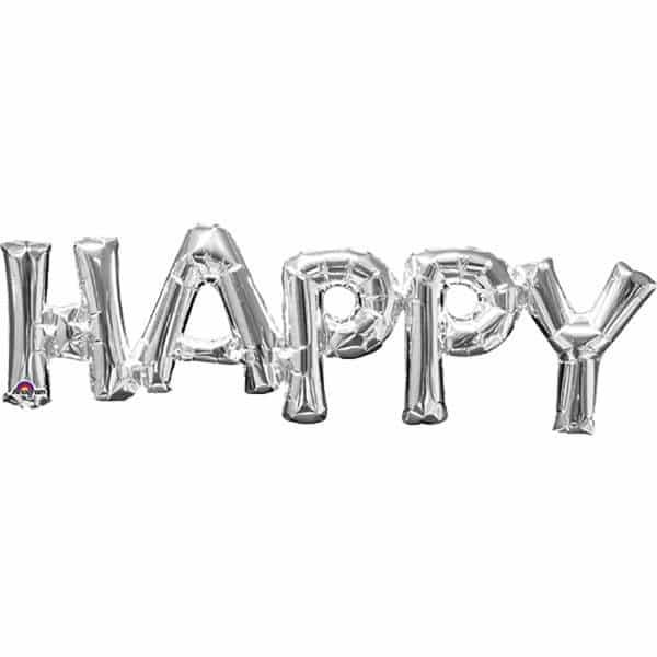 HAPPY Silver Foil Balloon