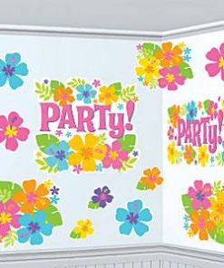 Hula Beach Party Hawaiian Hibiscus Cutout Decorations
