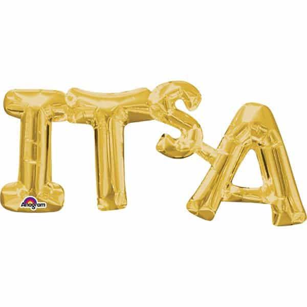 IT'S A Gold Foil Balloon