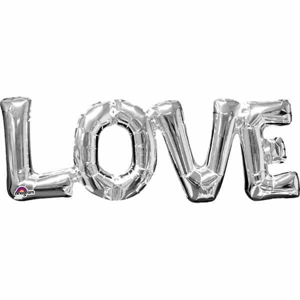 LOVE Silver Foil Balloon