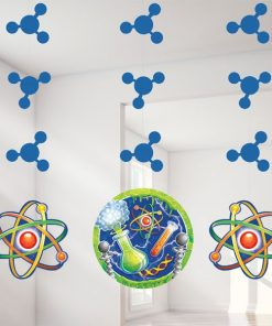 Mad Scientist Party Hanging Cutout Decorations