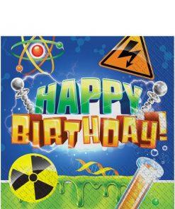 Mad Scientist Party Happy Birthday Napkins