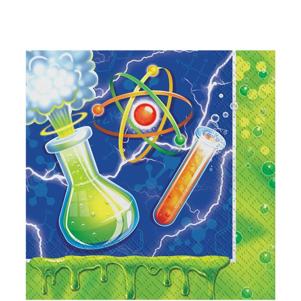 Mad Scientist Party Paper Napkins