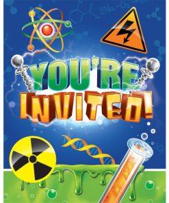Mad Scientist Party Invites