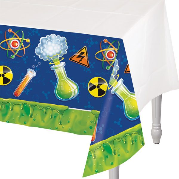 Mad Scientist Party Plastic Tablecover