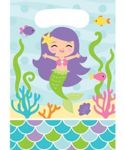 Mermaid Friends Party Plastic Loot Bags