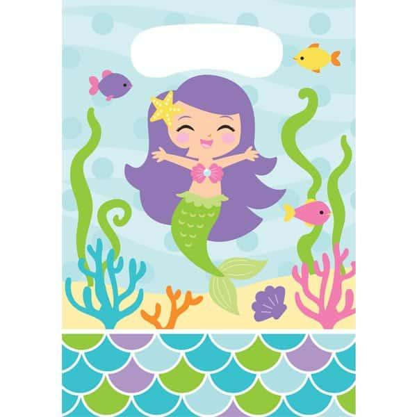 Mermaid Friends Party Plastic Loot Bags