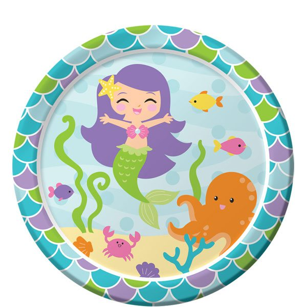 Mermaid Friends Party Paper Plates