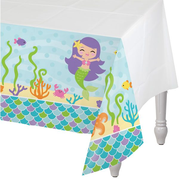 Mermaid Friends Party Plastic Tablecover
