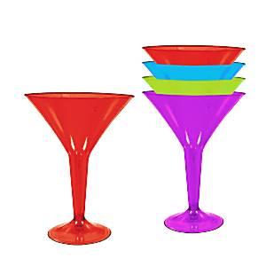 Multicoloured Plastic Martini Glasses