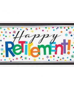 Retirement Officially Retired Party Giant Banner