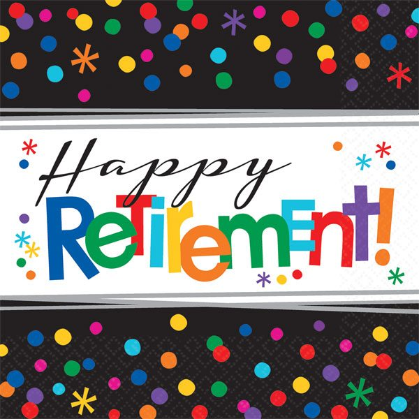 Retirement Officially Retired Party Paper Napkins