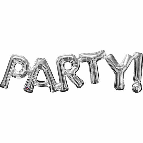 PARTY Silver Foil Balloon