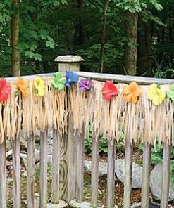 Luau Fence Hawaiian Fringe Decoration