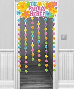 The Party's Here Summer Hawaiian Door Curtain