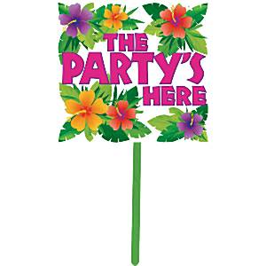 The Party's Here Summer Garden Sign