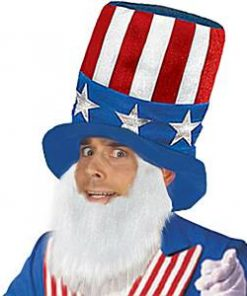 USA American Hat & Beard Set