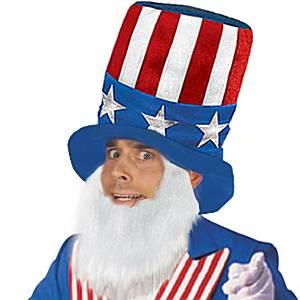 USA American Hat & Beard Set