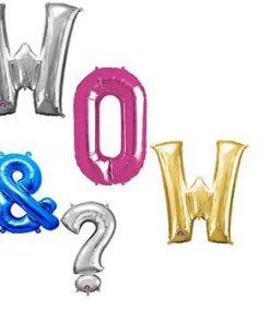 "Big Letter & Number 16"" Balloons"