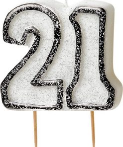 21st Birthday Candle - Black